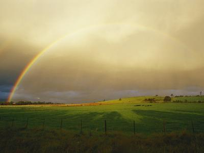 A Rainbow Appears over the Landscape-Jason Edwards-Photographic Print