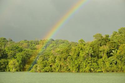 A Rainbow over Barro Colorado Island, Panama-Jonathan Kingston-Photographic Print
