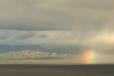 A Rainbow over Great Basin National Park-Phil Schermeister-Photographic Print