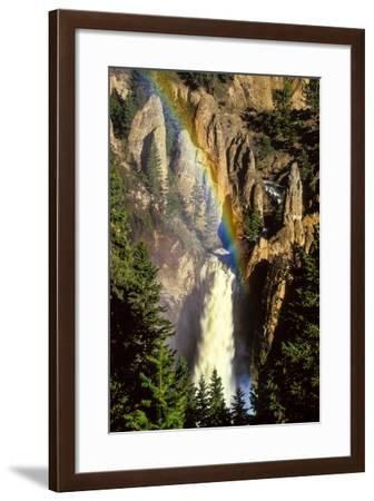 A Rainbow over Tower Creek Falling 132 Feet in One Clear, Straight Drop at Tower Fall-Tom Murphy-Framed Photographic Print