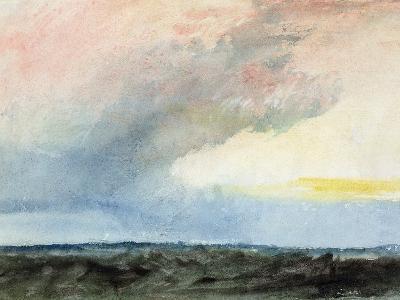 A Rainstorm at Sea-J^ M^ W^ Turner-Giclee Print