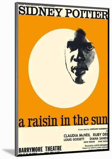 A Raisin in the Sun - Starring Sidney Poitier and Claudia McNeil-Pacifica Island Art-Mounted Premium Giclee Print