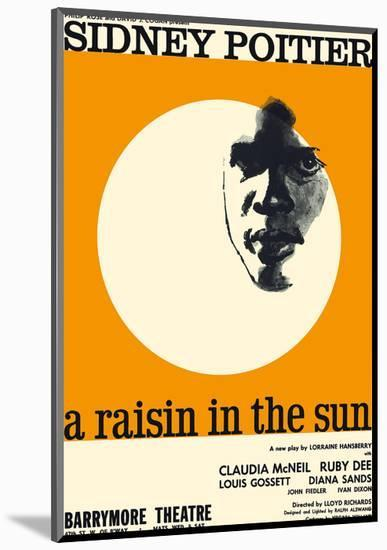 A Raisin in the Sun - Starring Sidney Poitier and Claudia McNeil-Pacifica Island Art-Mounted Art Print