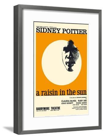 A Raisin in the Sun - Starring Sidney Poitier and Claudia McNeil-Pacifica Island Art-Framed Art Print