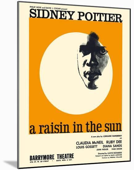 A Raisin in the Sun - Starring Sidney Poitier and Claudia McNeil-Pacifica Island Art-Mounted Giclee Print
