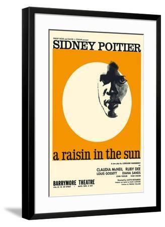 A Raisin in the Sun - Starring Sidney Poitier and Claudia McNeil-Pacifica Island Art-Framed Giclee Print