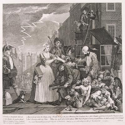 A Rake's Progress, 1735-William Hogarth-Giclee Print