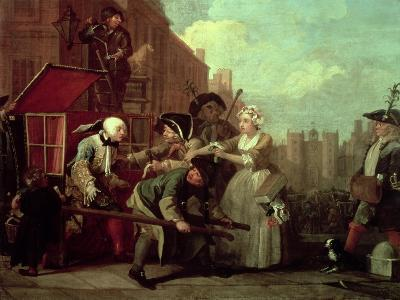 A Rake's Progress IV: the Arrested, Going to Court, 1733-William Hogarth-Giclee Print