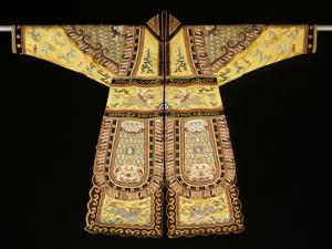 A Rare Embroidered Imperial Yellow Ground Theatrical Costume