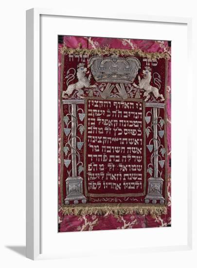 A Rare German Jewelled Parochet (Torah Ark Curtain)--Framed Giclee Print