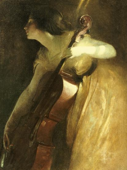 A Ray of Sunlight (The Cellist), 1898-John White Alexander-Giclee Print