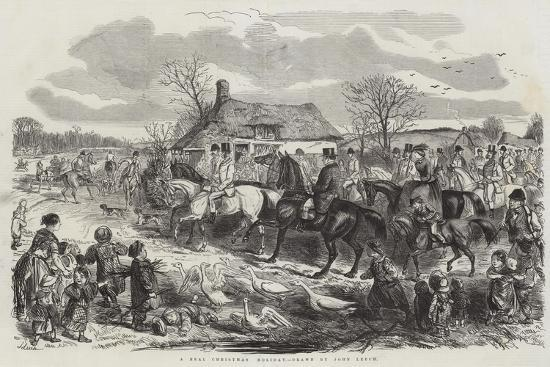 A Real Christmas Holiday-John Leech-Giclee Print