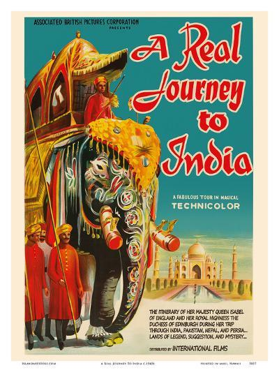 A Real Journey To India - Queen Elizabeth's trip through India, Pakistan, Nepal and Persia-Pacifica Island Art-Art Print