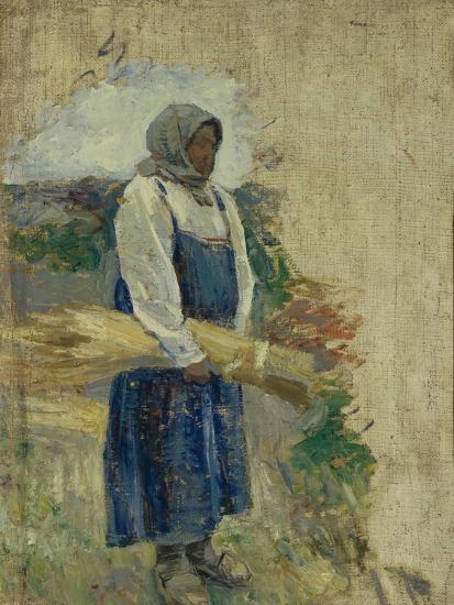 A Reaper, 1896-Viktor Elpidiforovich Borisov-musatov-Giclee Print