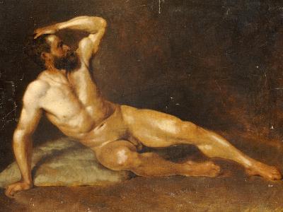 A Reclining Male Nude-Hans Von Staschiripka Canon-Giclee Print