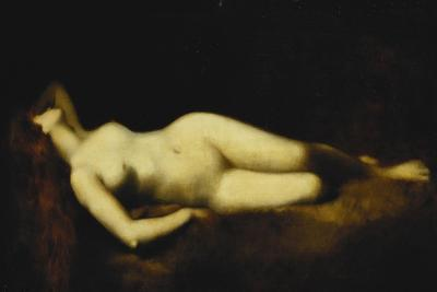 A Reclining Nude-Jean-Jacques Henner-Giclee Print