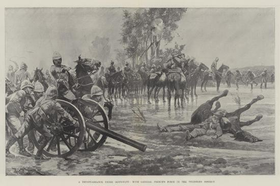 A Reconnaissance under Difficulty, with General French's Force in the Colesberg District-Richard Caton Woodville II-Giclee Print