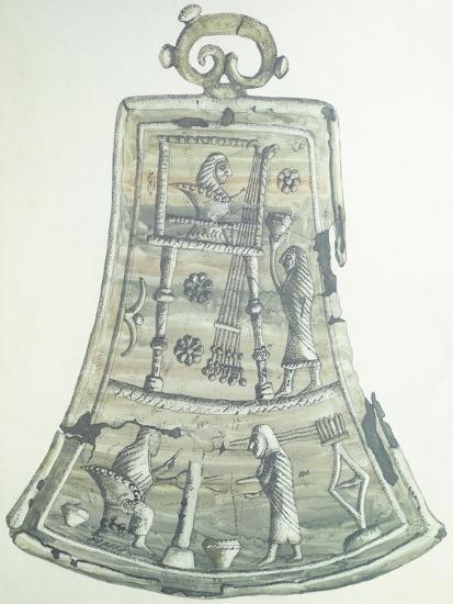 A Reconstructed Tintinnabulum. Etruscan Civilization, 9th-1st Century BC--Giclee Print