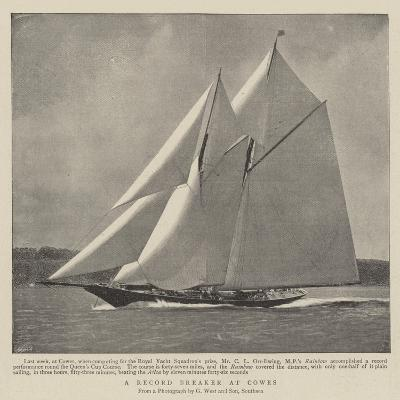 A Record Breaker at Cowes--Giclee Print