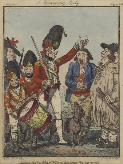 A Recruiting Party, 1797-Isaac Robert Cruikshank-Giclee Print
