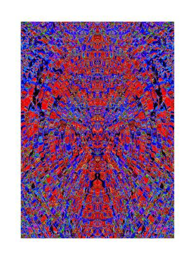 A Red and Blue Kaleidoscopic Tapestry-Ray2012-Art Print
