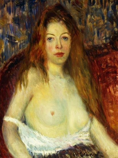 A Red-Haired Model-William James Glackens-Giclee Print