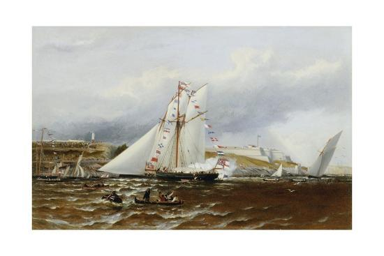 A Regatta at Plymouth, England-Henry A. Luscombe-Giclee Print