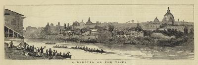 A Regatta on the Tiber--Giclee Print