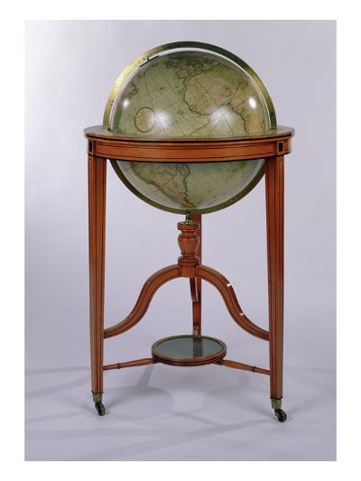 A Regency Terrestrial Library Globe on Mahogany Stand, 1806 (Mixed Media)-English-Giclee Print
