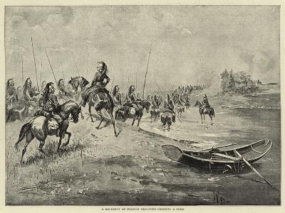A Regiment of French Dragoons Crossing a Ford--Giclee Print