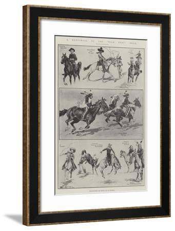 A Rehearsal of the Wild West Show-Ralph Cleaver-Framed Giclee Print