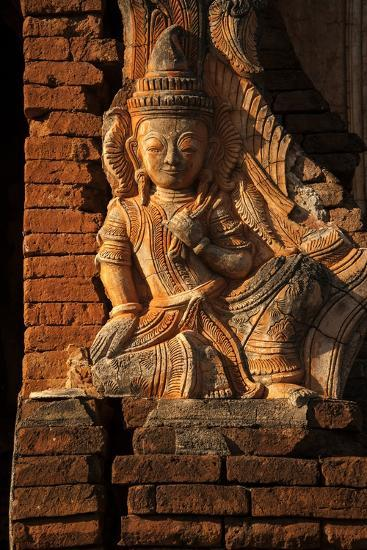 A Relief Carving at One of the Shwe Inn Thein Pagodas-Tino Soriano-Photographic Print