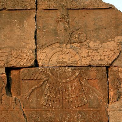 A Relief in Persepolis Depicting Faravahar, the Best-Known Symbol of Zoroastrians-Babak Tafreshi-Photographic Print