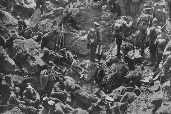 'A remarkable war photograph, mined and captured by the British', 1915-Unknown-Photographic Print