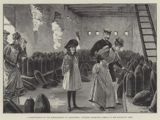 A Reminiscence of the Bombardment of Alexandria, Tourists Inspecting Shells in the Ras-El-Tin Fort-William Heysham Overend-Giclee Print