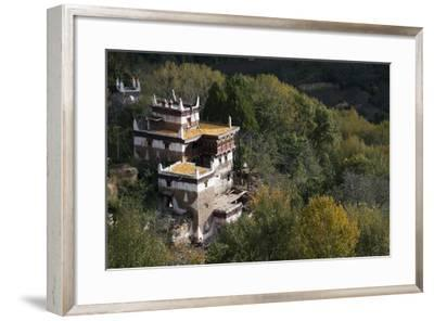 A Remote Village in the Sichuan Province, China, Asia-Alex Treadway-Framed Photographic Print