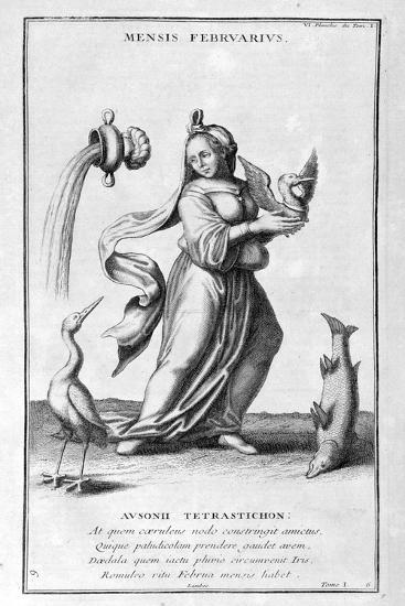 A Representation of February, 1757-Bernard De Montfaucon-Giclee Print