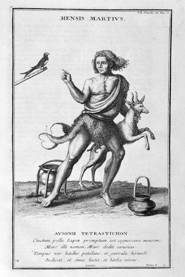 A Representation of March, 1757-Bernard De Montfaucon-Giclee Print