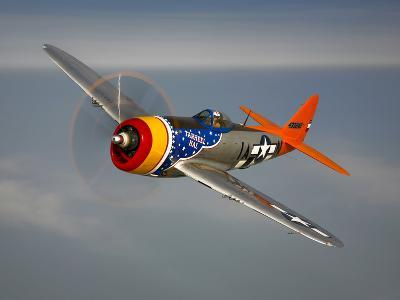 A Republic P-47D Thunderbolt in Flight-Stocktrek Images-Photographic Print