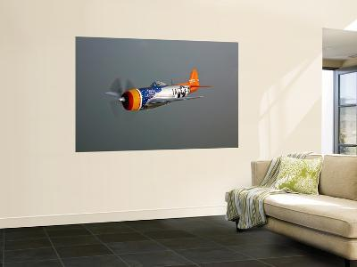 A Republic P-47D Thunderbolt in Flight-Stocktrek Images-Wall Mural