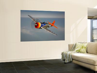 A Republic P-47D Thunderbolt in Flight-Stocktrek Images-Giant Art Print