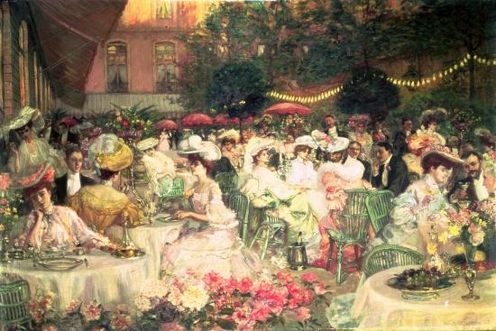A Restaurant Terrace, 1904--Giclee Print