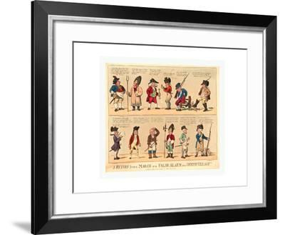 A Return from a March or a False Alarm in a Country Village--Framed Giclee Print