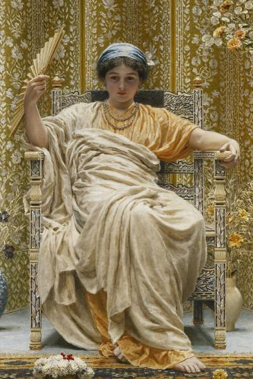 A Revery- a Look of Sadness on a Restful Face - She Hath No Cares - a Thing Hereditary in the…-Albert Joseph Moore-Giclee Print