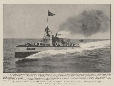 A Revolution in Steamships, the Turbinia Steaming at Thirty-Five Knots--Giclee Print