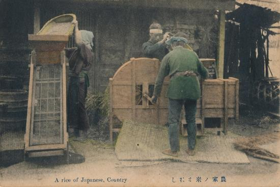 'A rice of Japanese, Country', c1910-Unknown-Giclee Print