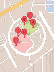 Restaurant Map by A Richard Allen