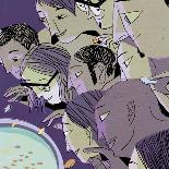 Wall Street Rampage-A Richard Allen-Giclee Print