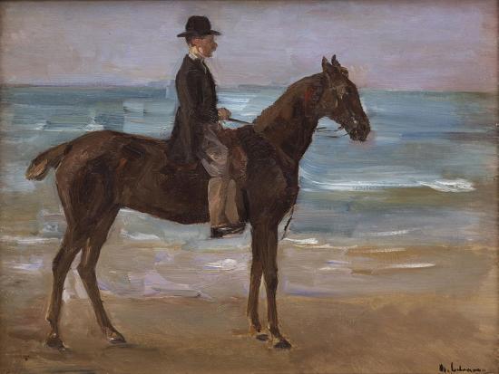A Rider on the Shore-Max Liebermann-Giclee Print