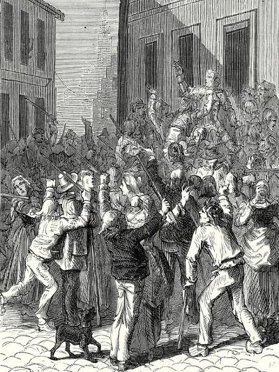 A Riot in Saint-Omer About the Establishment of a Lightning Rod on the House of De Boisvallé--Giclee Print